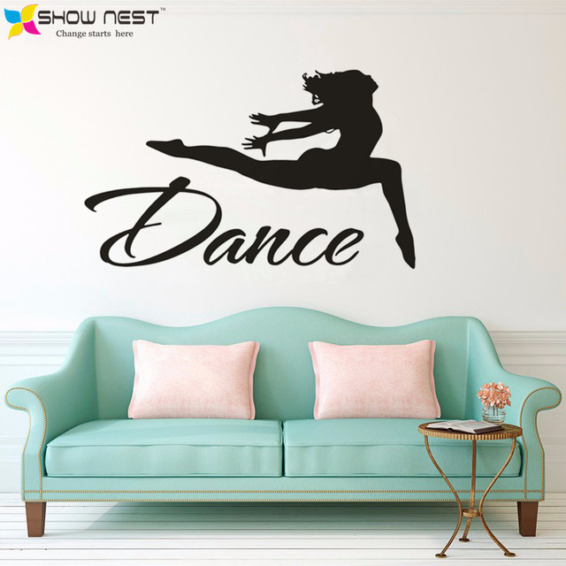Dance Wall Decal   Jumping Dancer Wall Decal Vinyl Stickers Dance Studio  Decor   Girls Gymnastics