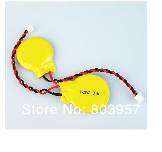 Free shipping wholesale 100pcs/lot Lithium 3V Button Cell / Coin Cell Battery CR2032 with cable with connector!