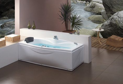 Fiber glass Acrylic whirlpool bathtub Right Apron Hydromassage Tub Nozzles Spary jets spa RS6138