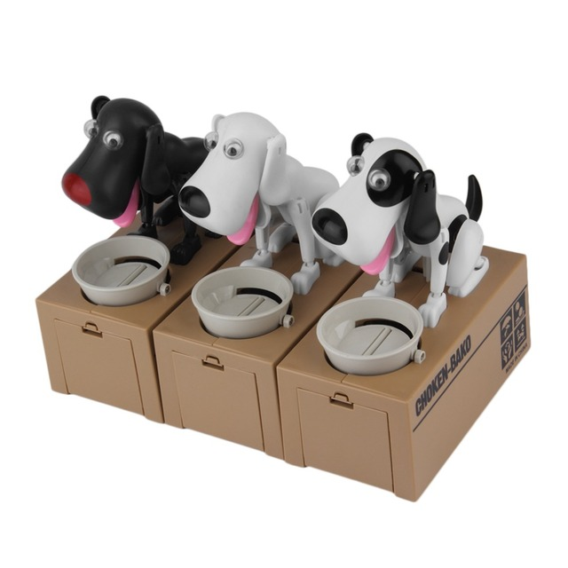 1Pc Cute Dog Model Piggy Bank Money Save Pot Coin Box Creative Gift