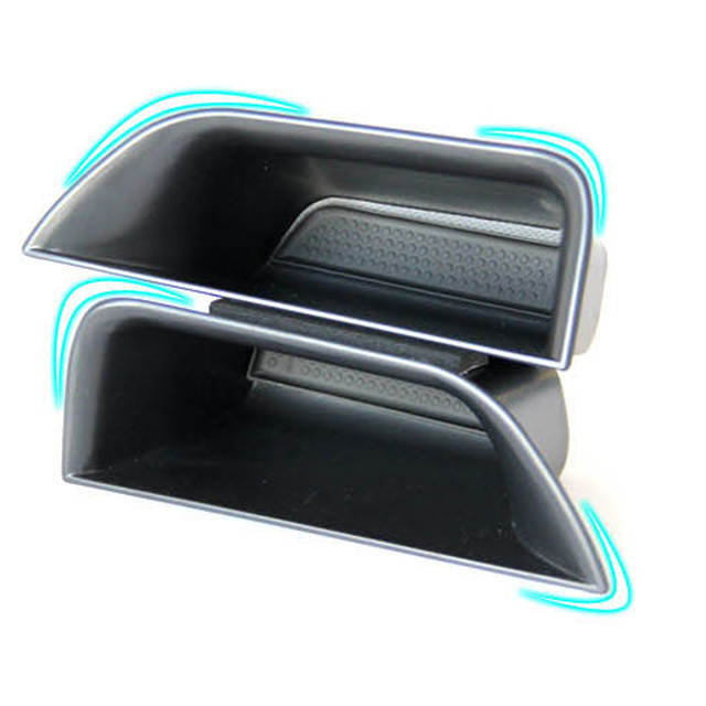 2 Pcs Car Organizer For Jaguar XF 2009-2015 Door Handle Armrest Storage Box Container Hoder Tray Accessories Car Styling Armrest box