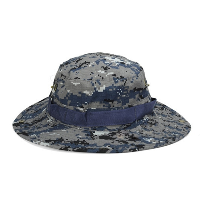 064968e82 US $3.28 10% OFF|Military Camouflage Bucket Hats Jungle Camo Fisherman Hat  with Wide Brim Sun Fishing Bucket Hat Camping Hunting Caps Hottest-in ...