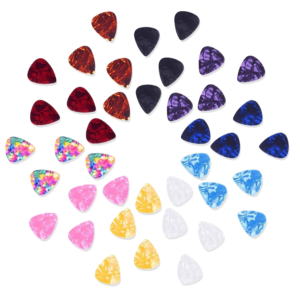 Random Color 0.46mm plastic Guitar Picks Plectrums 40 Pack