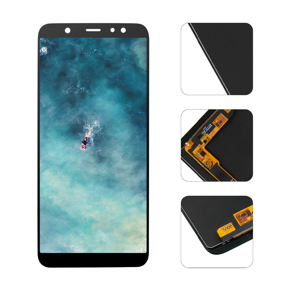 "6.0"" LCD Display For Samsung Galaxy A6 Plus 2018 A6+ A605fd A605 LCD Display Touch Screen Digitizer Glass Assembly + Tools"