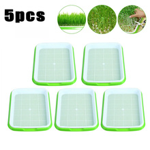 10pcs/set Hydroponics Seed Germination Tray Seedling Sprout Plate Grow Nursery Pots Vegetable Pot Plastic