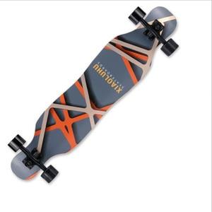 Image 4 - 전문 스케이트 보드 완료 메이플 longboard 스케이트 보드 4 휠 내리막 거리 긴 보드 댄스 보드 롤러 driftboard