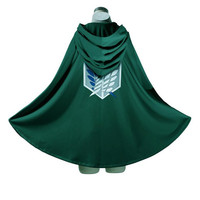 Halloween Adult Costumes Cosplay Clothes Attack On Titan Cloak Eren Mikasa Anime Cape Green Giants Unisex