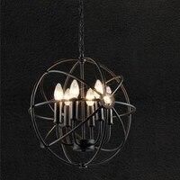 Retro industry round metal dining lamp creative Cafe Club Pendant Lights penthouse floor globe Pendant lamp GY290