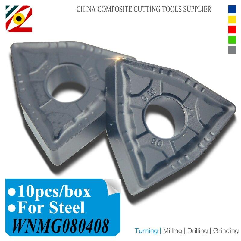 EDGEV 10PCS Carbide Inserts WNMG080404 WNMG 080408 WNMG431 432 CNC-draaibank Cutter Draaigereedschappen Wolfraam inzetstuk Machinaal staal