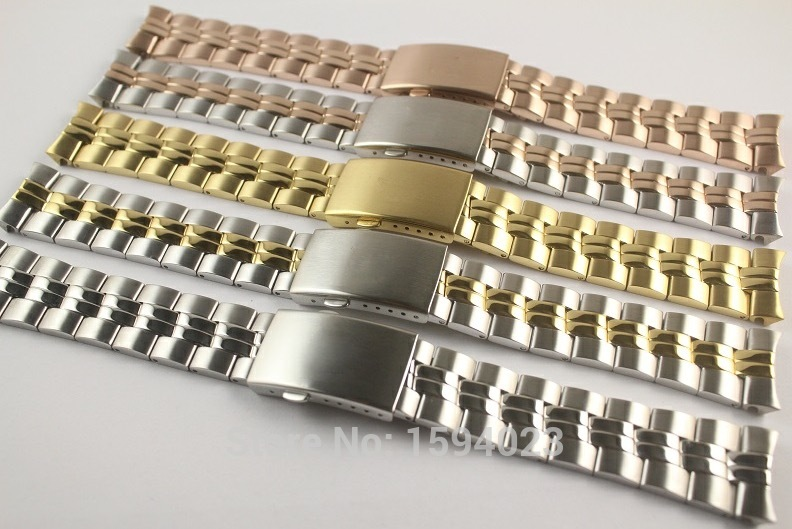 20mm T101410A T101417 Watch Parts Male models Golden Watch Band Solid Stainless Steel band For T10141020mm T101410A T101417 Watch Parts Male models Golden Watch Band Solid Stainless Steel band For T101410