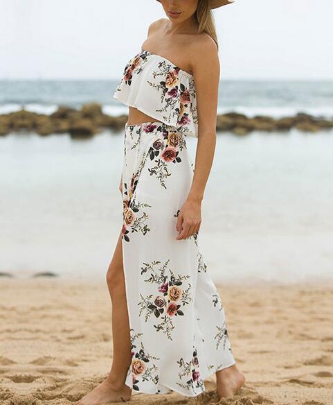 Rectos Libre 30 Beach Envío lote Casual Rápido 2 Bohemio Estilo Imprimir 1 Pantalones Long Verano Mujer Fedex Split Señora 3 Unids ngqTfrSxg1