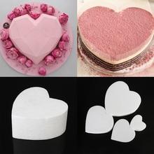 Cake-Foam-Mold Styrofoam Polystyrene Heart-Shaped Kitchen-Accessories Dummy Sugarcraft