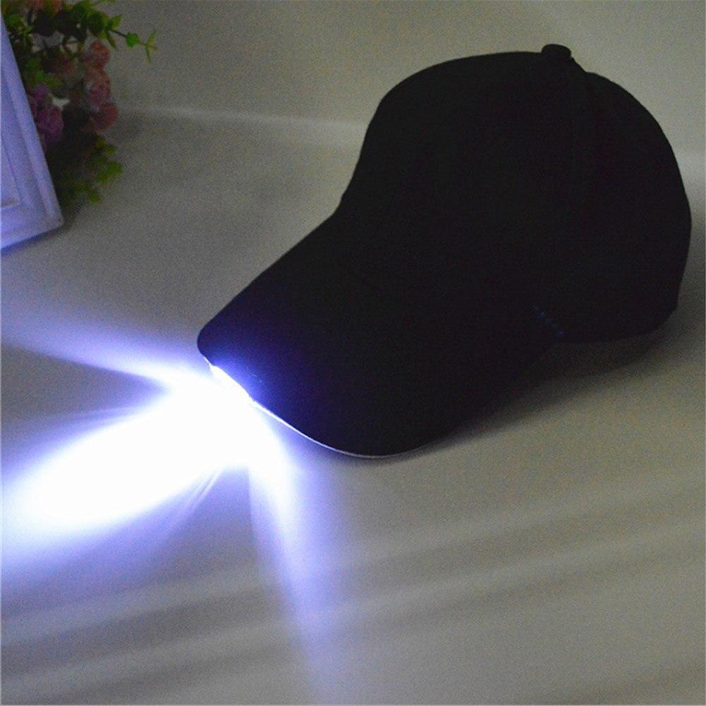 Unisex Caps Fashion LED Lighted Glow Club Party Black Fabric Travel Hat Baseball Cap denim fabric flat top baseball hat cap black