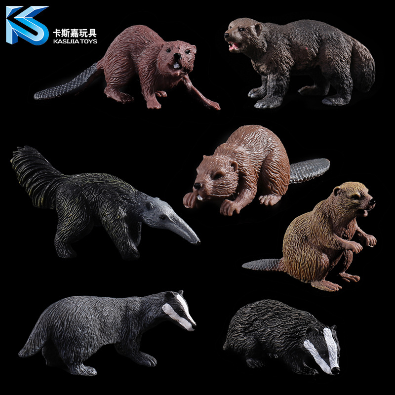 Model-Ornaments Animal-Model Children's-Toys Wolverine Wild Beaver Anteater 7-Optional