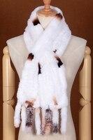 2017新しいレックスウサギの毛皮暖かい襟縁取られたリアル毛スカーフレディー韓国スタイルfahsionリアルニットウサギの毛皮の襟フリー船