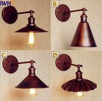 IWHD Antique Retro Loft Industrial Wall Light Fixtures Lighting Wandlamp Arm Rust Vintage Wall Lamp Sconces