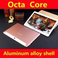 Бесплатная доставка Ultra Slim Дизайн 10 дюймов 3G 4 г LTE Планшеты ПК 10 core 4 ГБ Оперативная память 64 ГБ Встроенная память две сим-карты, Android 6.0 IPS Планш...