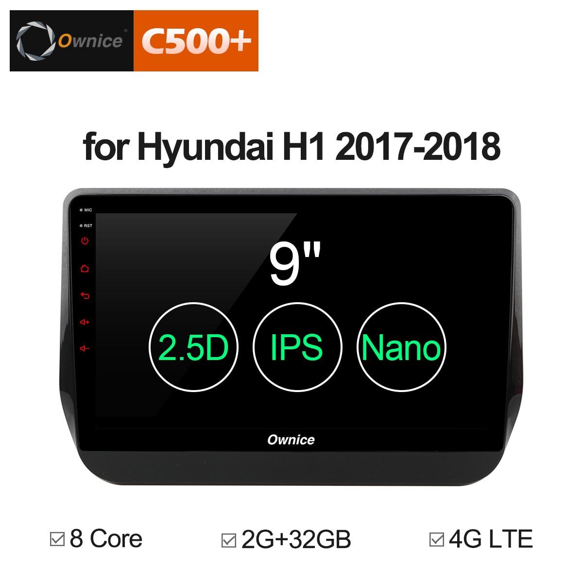 Ownice C500 + G10 9 pollice Auto Lettore DVD sistema di Navigazione GPS 2017 2018 per Hyundai H1 Gran Starex Octa core 32RB ROM lettore auto