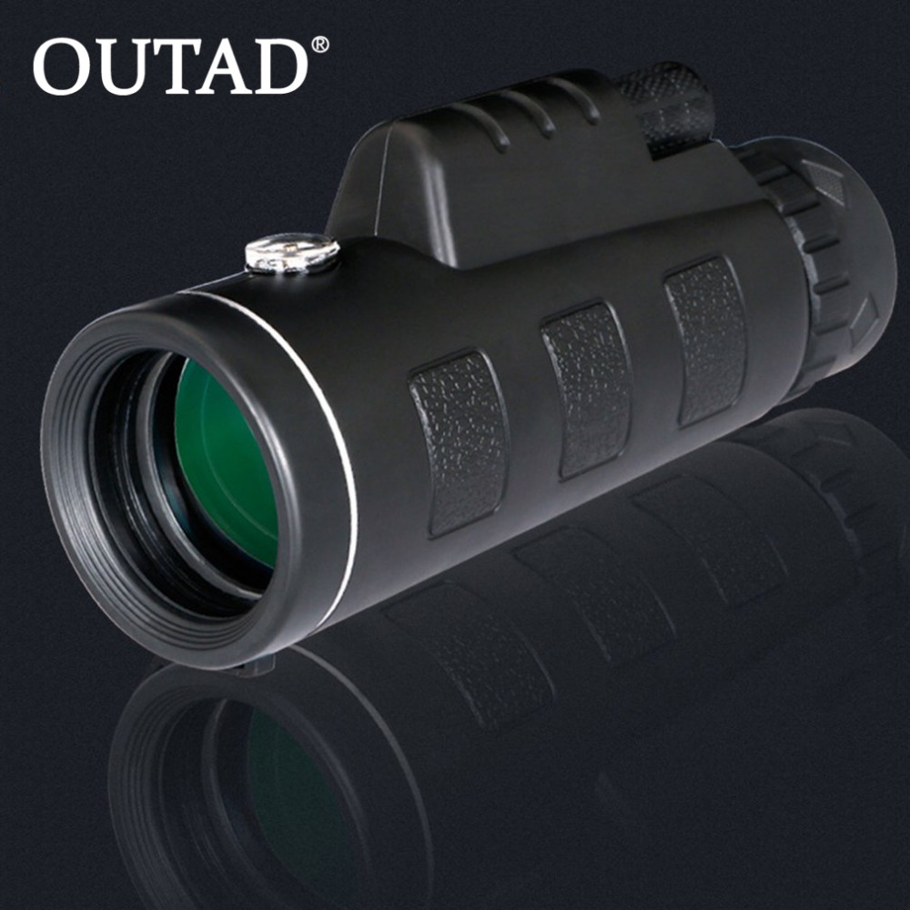 OUTAD 40X60 Zoom Monocular Telescope High Magnification Low Light Night Vision Multi Coating Lenses with Compass Free Shipping original boshile high power 15 75x25 mini zoom monocular pocket flexible focus zoom telescope for camping dy007