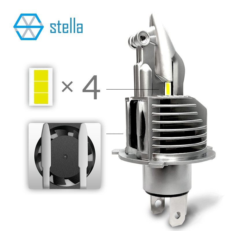 Image 2 - Stella H4/9003/HB2 LED headlight bulbs 12V 24V 70W 11600LM diode lamps for cars high beam dipped beam fog lights auto grade chip-in Car Headlight Bulbs(LED) from Automobiles & Motorcycles