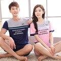 Любители пижамы отдыха мужчин и женщин одежда Для Дома с короткими рукавами пижамы ночного носить lounge одежда