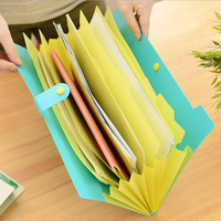 The New Book Waterproof Bags A4 Paper Folder Document Folding Design Color Random Rectangle Office Homeschooling