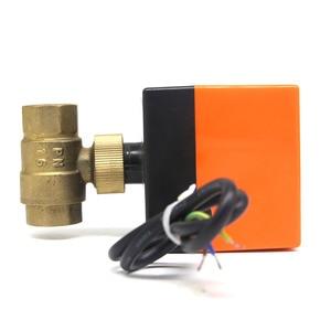 Image 5 - DN15/DN20/DN25 חשמלי ממונע פליז כדור שסתום DN20 AC 220V 2 דרך 3 חוט עם מפעיל