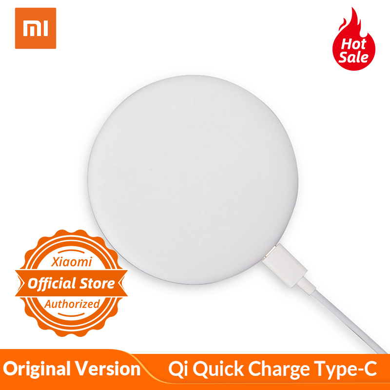 Original Xiaomi Wireless Charger Qi Quick Charge Type-C Fast Charger For Xiaomi Mi Mix 2S For Iphone 8 X Samsung S8 Smartphone