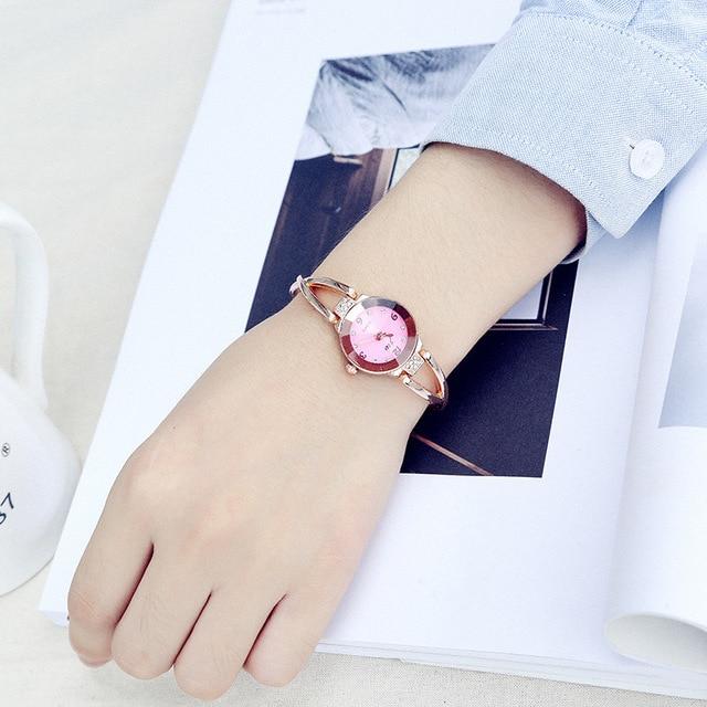 Fashion 2018 JW Watch Luxury Rhinestone Watches Women Stainless Steel Quartz Bra
