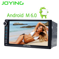 JOYING 2 DIN Android 6.0 car radio head unit stereo 7'' touch screen gps navi tape recorder with rear view camera DVR DAB+ OBD2