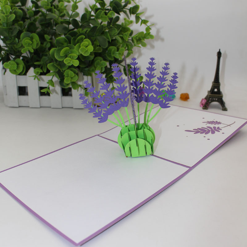 Hot sale 3d laser cut handmade purple lavender paper greeting card 3d laser cut handmade purple lavender paper greeting card postcard happy birthday party girlfriend valentines day creative gift m4hsunfo