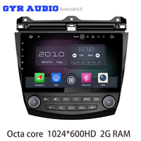 Octa core android 6.0 Car GPS radio for honda accord 2003-2007 with no dvd WIFI 4G bluetooth mirror link radio 1024*600 screen