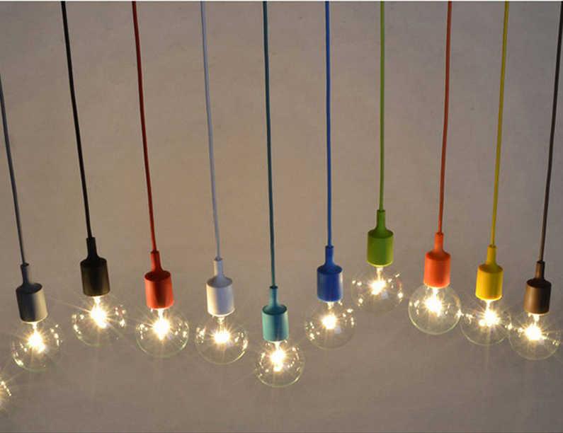 Modern Colorful Silica Gel DIY Pendant Lamp for Bar Restaurant Bedrooms Large Shopping Mall Pendant Lights E27 Holder