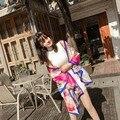 2017 Moda Designer de Personagens Carruagens Cachecol Wraps, Novo Modelo de Primavera Marca de Luxo Do Vintage Feminino Suave Lenço De Seda Xale