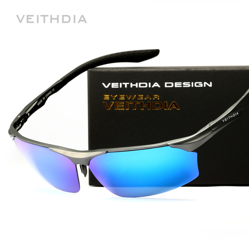 VEITHDIA Aluminum Magnesium Brand Polarizerd Mens Sunglasses Sun Glass Mirror Eyewear for Men Male oculos masculino 6576