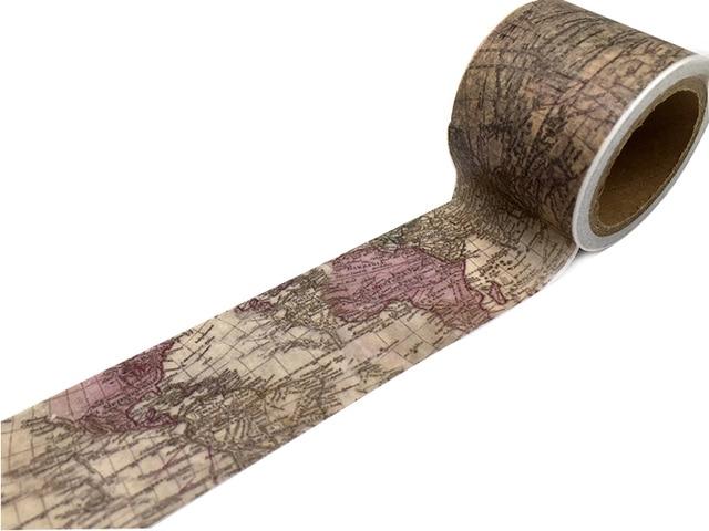 Jiataihe fita washi bilhete mapa Do Vintage washi tape DIY etiqueta da etiqueta adesiva fita adesiva fita de scrapbooking decorativa planejador s
