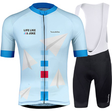 RUNCHITA 2019 Summer MTB Cycling Clothing Men Set Bike Breathable Anti-UV Bicycle Wear/Short Sleeve Jersey Sets