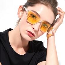 VIVIBEE Women Semi-Rimless Sunglasses UV400 Vintage Style 90s Rectangle