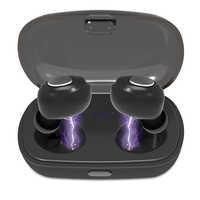 TWS Drahtlose Bluetooth Kopfhörer V5.0 Stereo modus Tiefen Bass Ohrhörer Wasserdichte Sport Headset Power LED Zeigen Lade Fall MIC