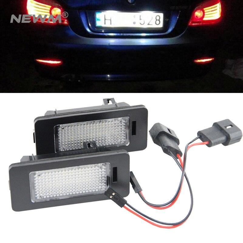 Оптовая цена! 2 штук много Е39 Е46 номер автомобиля номерного знака лампы для BMW автомобиль хвост свет рамка лицензии огни пластины