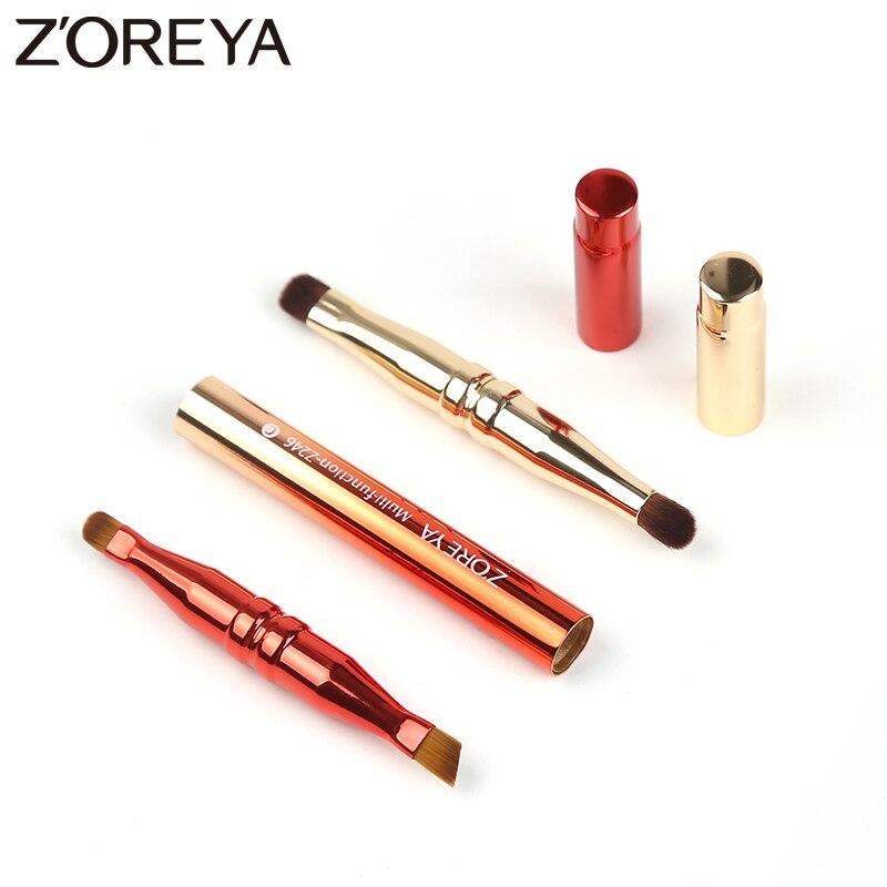 все цены на Zoreya Brand 4 heads Multi-function Makeup Brush Retractable metal Eye Eyeshadow Make Up Brush Cosmetics Gold Adjustable Tool онлайн