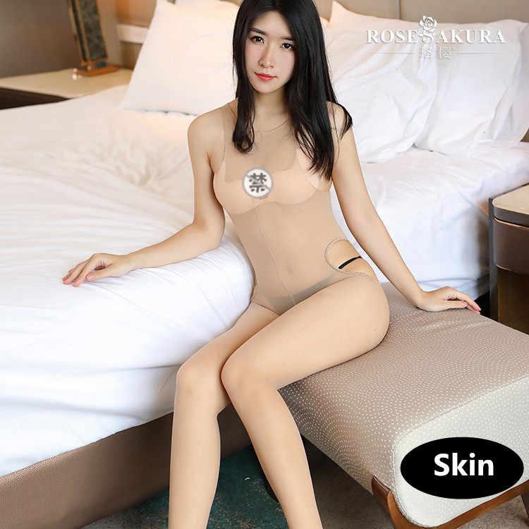 15D Sexy Rondom Open Kruis Sexy Kant Vrouwen Olie Glanzende Flash Panty Bodysuit Panty Full Body Panty Ondergoed 0703