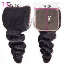 Perruque Lace Closure Loose Wave brésilienne – Tinashe, cheveux naturels, couleur naturelle, pre-plucked, 5x5, Swiss Lace Closure, partie libre/centrale, HD