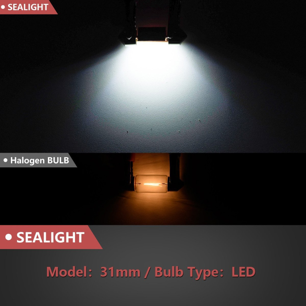 4pcs Festoon 31mm 41mm Led Car Lights Bulb De3175 Super Bright Smd Base Bulbs Light Leds Canbus Error Free Auto Interior Doom Map License Plate Lamp In Signal From