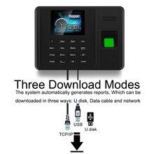 Eseye sistema de asistencia con huella dactilar, TCPIP, contraseña USB, reloj de tiempo de oficina, dispositivo registrador de empleados, tiempo de asistencia biométrico