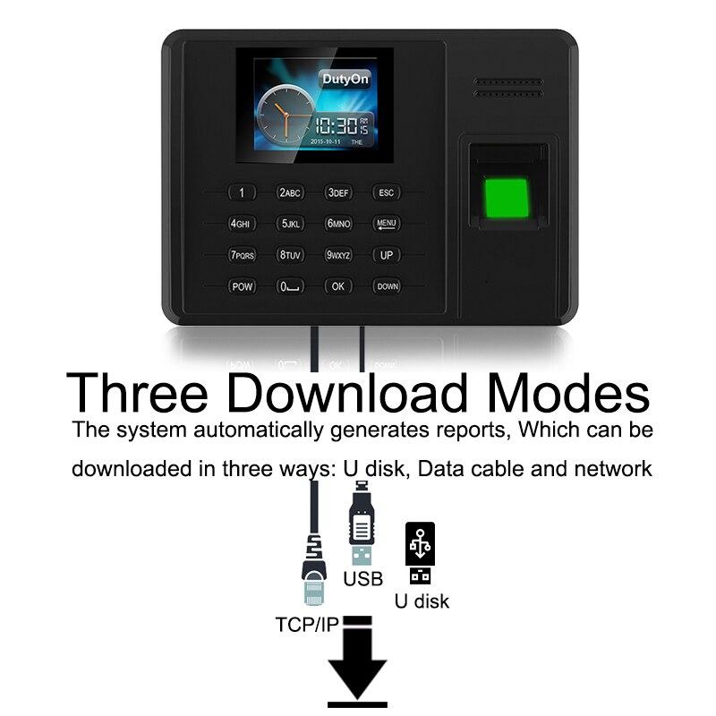 Système de présence Eseye empreinte digitale TCPIP USB mot de passe bureau horloge employé enregistreur dispositif biométrique temps de présence