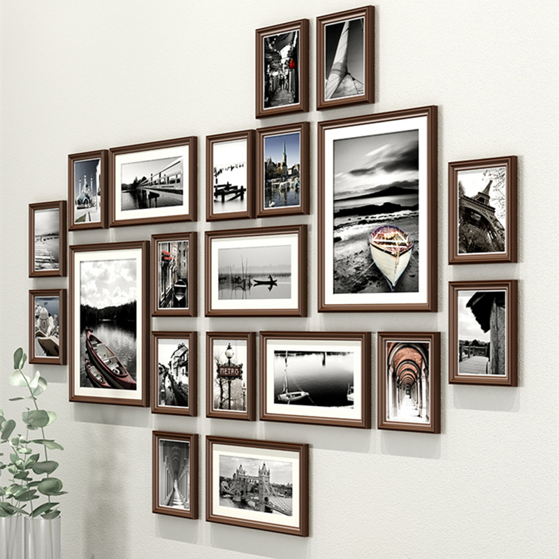 Vintage Luxury Style Wooden Wall Hanging Photo Frames Set 20pcs Two Style Picture Frames Suit Sofa Bed Stairs Wall Photo Frame Frame Aliexpress