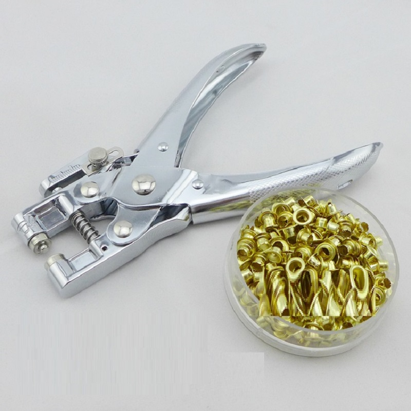 Metal Retainer Punching Machine with Eyelet Grommet Plier With Grommets 4.8mm Round Hole Perforadora de papel with Rings NO.9718