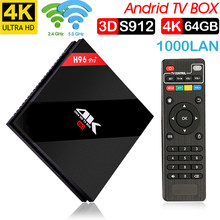 Xinways h96 pro plus 3g S912 64g Caixa Smart TV Android 7.1 Amlogic OCTA Núcleo Wi-fi 4 k h.265 h96pro h96 media player set top box(China)