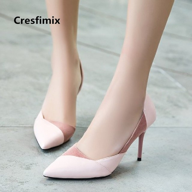 Summer A2698 Women's Casual Comfortable 5cm Lady Women 87cresfimix Pumps Shoes Hauts High In Talons Spring Femmes Cute Us13 Heel 8 8XwO0knP